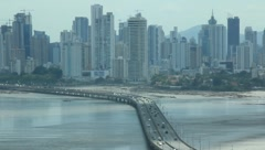 Low Tide in Panama City, Panama after Tsunami Warning (HD) co - stock footage