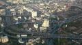 Bangkok Skyline Aerial Panorama View Modern Interchange Cars Passing Traffic Jam Footage