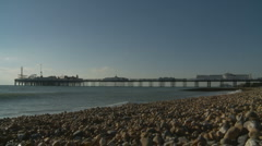 Stock Video Footage of Brighton pier landscape