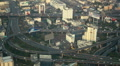 High Speed Car Motion Movement Crowded Busy Highway Aerial View Bangkok Daylight Footage