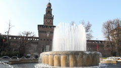 Stock Video Footage of Sforza Castle, Milan