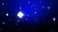 Blue Moving Particles Loop HD. Stock Footage