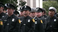 Firefighter funeral procession Stock Footage
