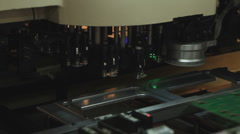 Technology 0005-SMD assembly machine Stock Footage