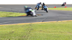 Superbike Racing Motorcycles Stock Footage
