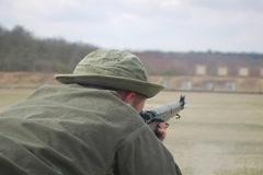 WWII Firing Range  Fort Meade Stock Footage