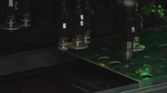 Technology 0011-SMD assembly machine Stock Footage