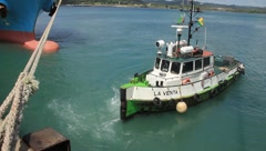 Tug bouts in the Panama Canal, Panama (HD)m - stock footage