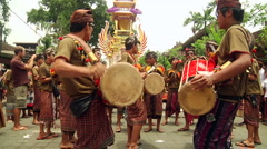 Bali Cremation Drums HD 77 Stock Footage