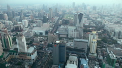Aerial View Of City Skyline Bangkok, Thailand, Rachaprarop, Pratunam, Skyscraper Stock Footage