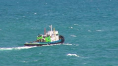 Tug Boat in Heavy Seas Stock Footage