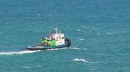 Stock Video Footage of Tug Boat in Heavy Seas