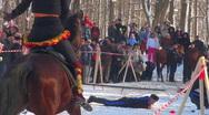 Cossacks on horses Stock Footage