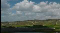 Valley of Elah timelapse pan P1 Stock Footage