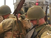 WWII Soldiers on D-Day Stock Footage