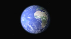 Rotating Earth WIth Atmosphere Stock Footage