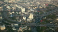 Bangkok Cityscape Panoramic View Modern Flyover Vehicles Movement Cars Crossing Footage