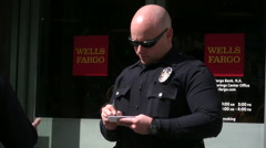 Police writing a ticket. Stock Footage