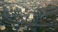 Establishing Shot Bangkok Skyline Aerial View People Crowd Cars Moving Commuting Footage
