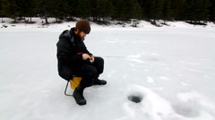 Ice Fishing Stock Footage
