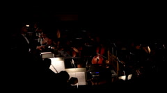 view on orchestra in theatre - stock footage