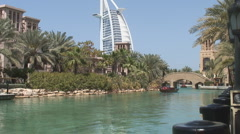 Jumeira With Burj al Arab Stock Footage
