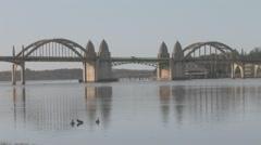 Florence Bay Bridge 01 Stock Footage