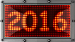 2016 announcement on the LED display Stock Footage