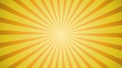 Sunburst yellow background - stock footage