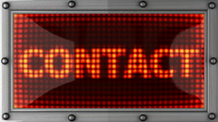 contact announcement on the LED display - stock footage