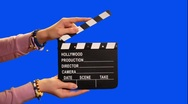 Stock Video Footage of HD Green screen: movie clapper board