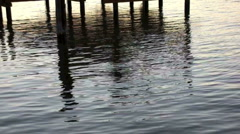 pier reflections - stock footage