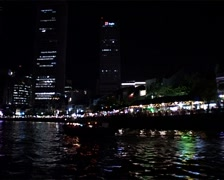 Singapore at Night from a Bumboat GFSD Stock Footage