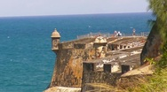 Puerto Rico - El Morro - People in Observation Deck Stock Footage