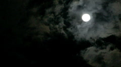 Stock Video Footage of Moving clouds with bright full moon.