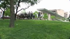 Dallas Mounted Police Dallas Texas Stock Footage