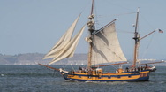 Stock Video Footage of Sailing ship