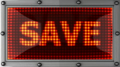 Save announcement on the LED display Stock Footage