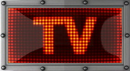 Tv announcement on the LED display Stock Footage