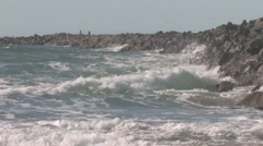 Waves at South Jetty Beach, Oregon Stock Footage
