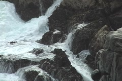 Rocks and ocean Stock Footage