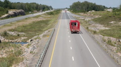 Rural highway with truck. - stock footage