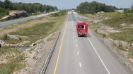Rural highway with truck. Stock Footage