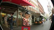Stock Video Footage of Big Boy Statue In Hannover Germany