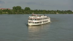 Cruise Ship Vienna Austria Stock Footage