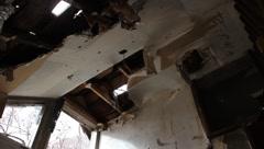 House in disrepair Stock Footage
