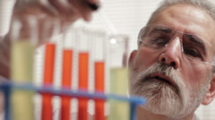 Researcher working in a laboratory Stock Footage