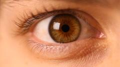 Eye Macro - 03 - Rapid Movement  Stock Footage