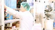 Stock Video Footage of Pharmaceutical Factory - Ampoule Packaging Line
