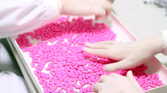 Handful Of Pills - Quality Control Stock Footage